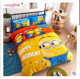 Wholesale 2015 D Cartoon Kid children bedding set Despicable Me bed seting cotton Kids Mickey Mouse cartoon bedding set for children R913