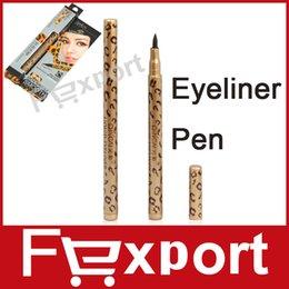 Wholesale High Quality Waterproof Leopard Design Liquid Eye Liner Pen Black Eyeliner Pencil