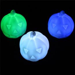 Colorido abóbora de Halloween Night Lights Decorações Plastic LED irritado da abóbora Lamp Carver a Apple Night Light para festa de Natal