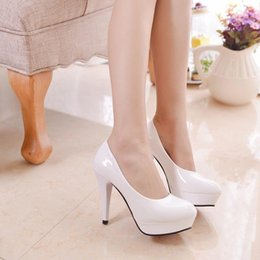Wholesale Women High Heels Shoes New Patent Leather Stilettos Women s High Heels Pumps Platform Office Ladies Prom Shoes colors