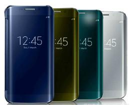 cas de Smart Mirror Effacer vue couvercle boîtier PC Couvercle transparent avec des boîtes de détail Pour Samsung Galaxy S6 S6 bord ainsi que S7 S7 bord Note 5