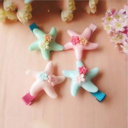 Wholesale Baby Headbands Newborn Hair Clips Pins Girls Hair Bows Fashion Starfish Hairpin Clip Hair Flower Girls Hair Accessories MC
