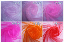 Wholesale Snow Organza Wedding Decor Crystal Organza Fabric Chair Sashes cm width meters