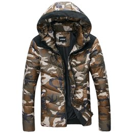 Wholesale Hot Sale Fashion winter warm hooded jacket white duck down authentic outdoor ski sports camouflage jacket Down coat
