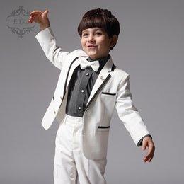 Wholesale 2016 Custom Made Boy Tuxedos Peak Satin Collar Children Suit Black Kid Wedding Prom Suits Jacket Pants A1