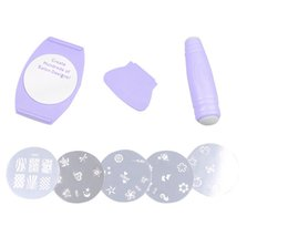 Wholesale Hot Professional Nail Art Stamp Image Plates Set Manicure Finger Stencil Kit