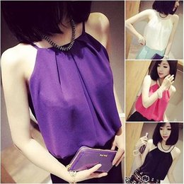 Wholesale Women Sexy plus size Chiffon Blouse tanks tops european style Casual Girl Tops women clothes Apparel