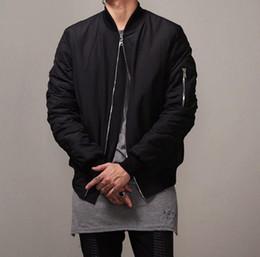 Wholesale Fashion Hi Street Mens Military Style MA1 Bomber hip hop Jacket Black Mens Slim Fit Hip Hop Varsity Baseball Jacket