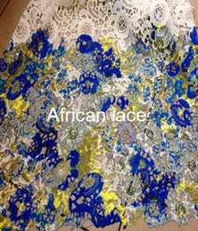 Wholesale DH1104Multi Color cord lace Guipure African lace water soluble guipure lace fabric