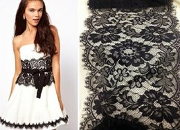 Wholesale Lace High Quality Scalloped Edge Soft Raschel Eyelash Lace Trim Black or Off White Meters cm Width