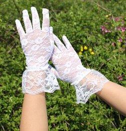 Wholesale 2015 hot sale summer sunscreen uv sun shading anti uv short design gloves summer lace cotton thin women s
