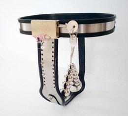 Wholesale Fêmea de Aço Inoxidável Ajustável com Fechadura de Cinto de Castidade Dispositivos de FICHA de brinquedos Sexuais para as Mulheres