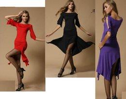Wholesale Hot Factory Latin dance skirt set adult performance tassel dance wear competition clothing latin dance dress