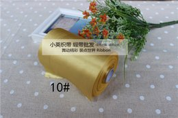 Wholesale yards mm Gold satin ribbon EXTRA WIDE Ribbon satin DIY bow craft accessories wedding party decoration