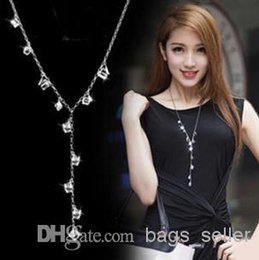 Wholesale Long Sweater Chain High Quality Crystal White Colorful style Mix N6