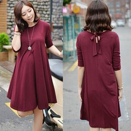 Wholesale 2015 Three season Cotton Maternity Dresses Cute Loose Materity Dress for Pregnant Women Summer Casual Maternity Clothes for Pregnancy