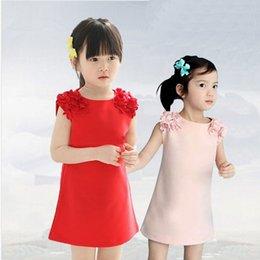 Wholesale 2015 Hot New Korean children s clothing new Korean children s clothes girls summer flower dress fashion princess dress