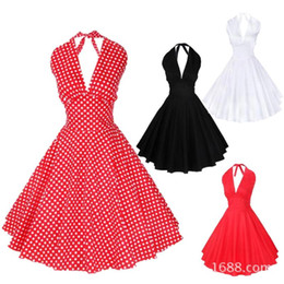 Discount Rockabilly Halter Dresses - 2017 Rockabilly Halter ...