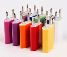 5V 1000mAh Colorful plug US UE USB Wall Charger AC Power Adapter Accueil Chargeur pour iphone 6 6G 4 4S 5 5G 5S 5C Samsung Galaxy S3 S4 S5