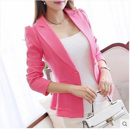 Wholesale Long sleeve of new fund of autumn small suit female coat of cultivate one s morality falbala brief paragraph candy colors