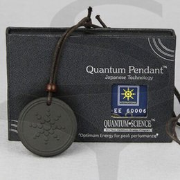 Wholesale Fashion Unisex Quantum Scalar Energy Pendant Unique Design with Authenticity Ion Card and Pendant Necklace Health Care
