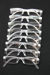 Wholesale Unbreakable Men Women Reading Glasses Transparent Plastic Rimless Presbyopia Pocket Reader RX Optic Glasses for Aging People Senior