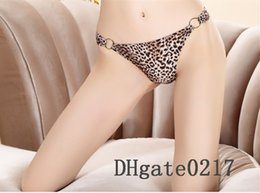 Wholesale Sexy Open Crotch Woman Panties Thongs G string Fashion V string Panties Sexy Woman Leopard print Underwear