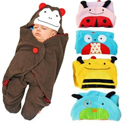 Wholesale Baby Infant Newborn Sleeping Bags Blankets Fleece Swaddle Cute Baby Pariscarc Straddle Types