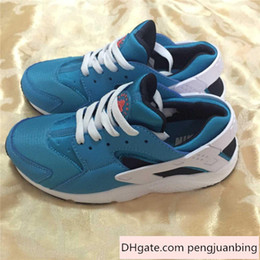 Wholesale 2015 Nike Air Huarache Shoes Fashion Kids First Walking Sneakers Children s Athletic Shoes Fresh Blue Sky color Child Running Shoe