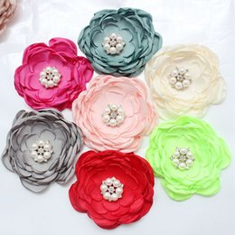 Wholesale New Arrival Piece Handmade Organza Trimmings DIY Artificial Flower Sewing Craft For Grament Headband Hair Accessories YR0009 salebags