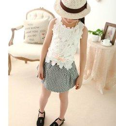 Wholesale Girl Vest Summer lace crochet girls camisole White