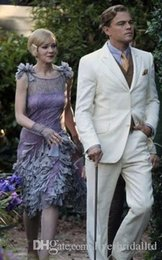 Wholesale Custom made Great gatsby movie suit wedding suits for men grooms suit Bespoke mens suit Jacket Pants vest pocketsquare