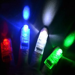 x1000pcs Fabricants vente LED Finger Lamp Finger Lumières LED Anneau Glow Laser Finger Poutres Party Anneau clignotant LED flash Kid Toys 4 couleurs