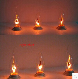 Flame Candle Light Bulbs Online | Flame Candle Light Bulbs for Sale:E14 3w led candle light bulbs 85-265v flame blinking effect,Lighting
