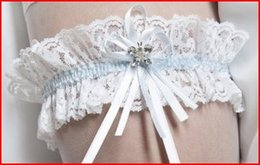 Wholesale REAL Sample Custom Made Lace Two Tone Custom MAde Bridal Garters Two Tone With Beads