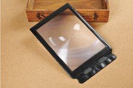 Wholesale 100PCS Lupas De Aumento Gafas Lupa Ferramentas A4 Pocket X Full Page Fresnel Lens Magnifying Tool Flexible Card Reading Magnifier