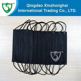 Wholesale Brand new black anti flu medical mask rectangular style with round earloop more colors choice box drop shipping