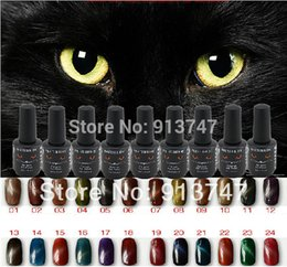 Wholesale 3PCS d magnetic gel pc magnet cat s eye UV LED nail art gel nail polish gel soak off gel polish ml bottle colors optional