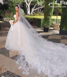 Wholesale 2015 Bridal Veil Long Veil White Ivory Meters Tulle Cathedral Veils Bridal Accessories Dhyz