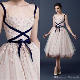 Pink Tulle Tea Length Dress