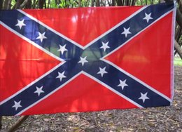 Wholesale Hot The Truth About the Confederate Battle Flags Two Sides Printed Flag Confederate Rebel Civil War Flag National Polyester Flags Stock