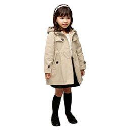 Discount Girls Trench Coat Hood | 2017 Girls Trench Coat Hood on ...