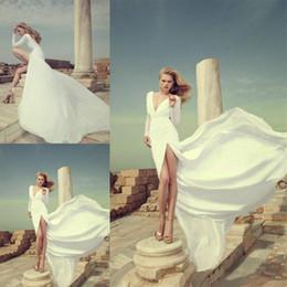 Discount Flowing Wedding Dress Sheer   2017 Flowing Wedding Dress ...