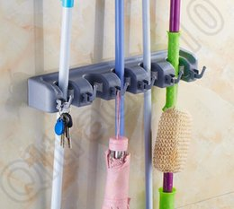 1LOT HHA652 Factory Price Garage Closet Kitchen Wall Broom Mop Holder  Garden Tools Organizer 5