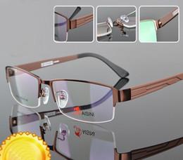 Wholesale Metal Man s frame glasses men spectacle frames male myopia glasses optical frames glasses eyewear brand eyeglasses frame man High Quality