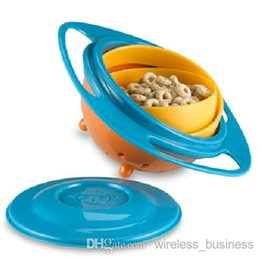 Wholesale Baby Storage Cups Creative Baby Training Dinner Bowl Children Kid Baby Toy Universal Rotate Spill Proof Bowl Dishes