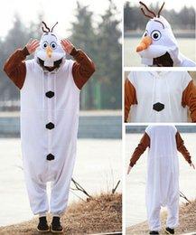 Wholesale 2014 New Anime Onesie Pajamas Frozen Olaf Snowman Cosplay Costume Adult Onesie Pyjamas Party Dress