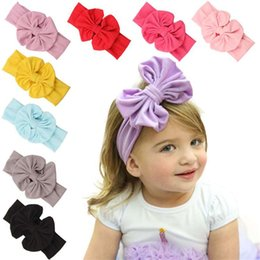 Wholesale The new cotton children s bow hair band baby hair tire hot style in Europe and America