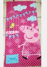 Wholesale peppa pig girl girls beach towels baby girls cartoon towel