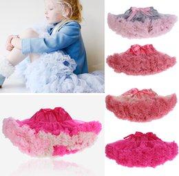 Wholesale Baby Girls Chiffon Fluffy Pettiskirts Tutu Princess Party Skirts Ballet Dance Wear Colors High Quality